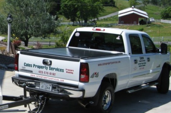 Cates Pressure Washing and Property Services truck