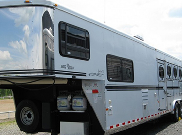 Horse trailer cleaning using the correct products to leave them shining like new