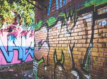 Graffiti removal services offered by Cates Pressure Washing